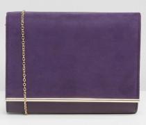 Envelope-Clutch-Tasche Violett