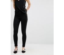 Superenge Skinny-Jeans Schwarz