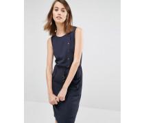 Utility-Kleid mit Druckknopfleiste Marineblau