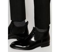 Giraldi Chelsea-Stiefel aus Lackleder Schwarz