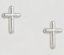 & Julie Sandlau Ohrstecker mit Kreuzdesign aus Sterlingsilber Silber