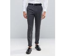 Schmal geschnittene Anzughose, anthrazit Grau