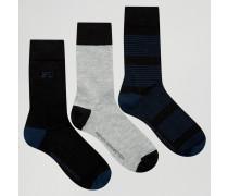 3er-Pack Socken Schwarz