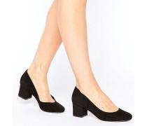 Ariane Schuh mit halbhohem Absatz Schwarz