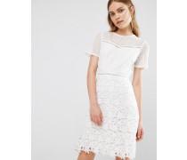 Heather Kleid mit Spitzendesign Weiß