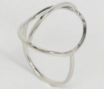 Abstrakter Ring Silber