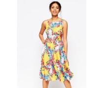 Sass And Sunshine Kleid mit Wirbelmuster und Blumenmuster Gelb