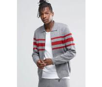 Harrington-Jacke mit Streifen Grau