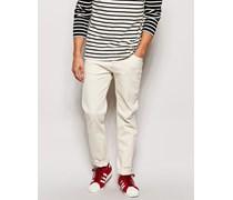 Jeans Wednesday Schmal geschnittene Jeans in gebrochenem Weiß Weiß