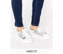 DANI Weit geschnittene Sneaker mit Netzoberfläche Weiß