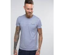 T-Shirt in Acid Wash Grau