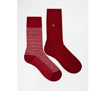 Levi's Gestreifte Socken im 2er-Set Rot