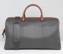Reisetasche mit gekörnter Oberfläche Grau