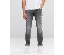Skinny-Jeans in Mittelgrau Grau