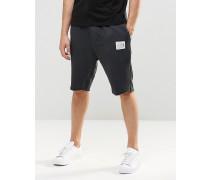 Jersey-Shorts in Ölwaschung Schwarz