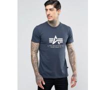 T-Shirt mit Logo in Marineblau in regulärer Passform Marineblau