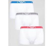 Unterhosen im 3er-Set Weiß