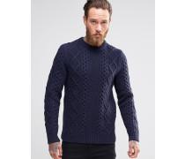 Levi's Pullover mit Zopfstrickmuster Marineblau