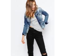 Jeans Gebleichte Jeansjacke mit enger Passform Blau