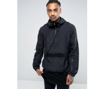 Jacke zum Überziehen mit Webdetail Schwarz