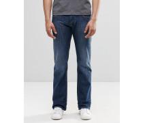 Zatiny 855L Bootcut-Jeans in mittlerer Waschung Blau