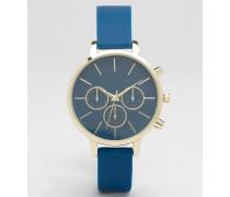 Uhr mit weichem Armband Blau
