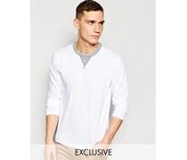 Exklusiv bei ASOS Langärmliges Shirt mit Rundhalsausschnitt Weiß