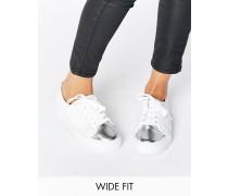 DESTINY Breite Sneaker mit Schnürverschluss Weiß