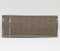 Clutch mit Netzdetails Grau