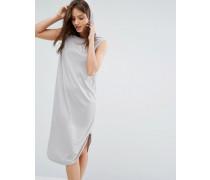Kleid mit Kapuze Grau