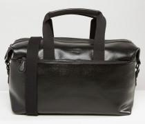 Reisetasche aus Leder Schwarz