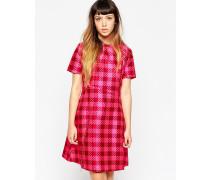 Kleid mit Bahnendesign und Vichykaro Rosa