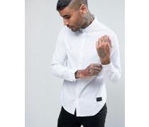 Schmal geschnittenes Hemd Weiß