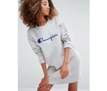 Oversized-Sweatkleid mit Schriftlogo Grau