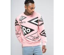 x Umbro Sweatshirt mit durchgehendem Logoprint Rosa