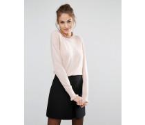 Pullover mit rüschenverziertem Halsausschnitt Rosa