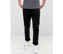 Schmale Jeans im Used-Look Schwarz