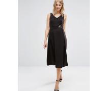 Kleid mit Schnalle Schwarz