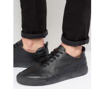 Sneaker aus Leder Schwarz