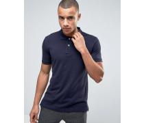 Schmal geschnittenes, klassisches Pikee-Polohemd in Marineblau Marineblau