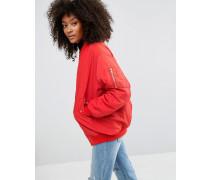 Oversize-Bomberjacke Rot
