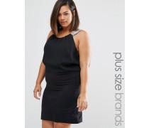 Plus Ruby Kleid mit Trägerdetail Schwarz
