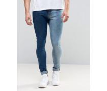 Brooklyn Supply Co Zweifarbige Jeans Blau