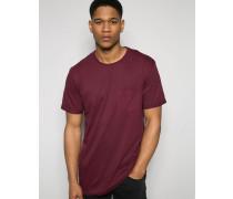 Solid T-Shirt mit Tasche vorne Grau