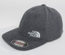 Graue, klassische Baseball-Kappe aus Wolle Grau