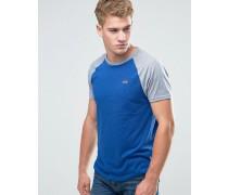 Must Have Schmales, blaues Ringer-T-Shirt mit Logo Blau