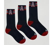 3er Pack Socken Marineblau