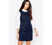 Jeanskleid mit Knopfdetail Marineblau