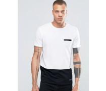 Solid Tailored & Originals T-Shirt mit Kontrastsaum Schwarz