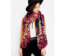 Überdimensionierter Schal mit Paisleymuster und bedrucktem Rand Mehrfarbig